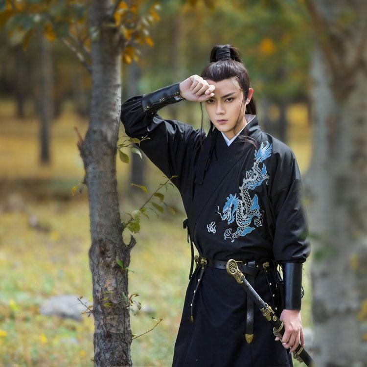 shop dragon male hanfu robe