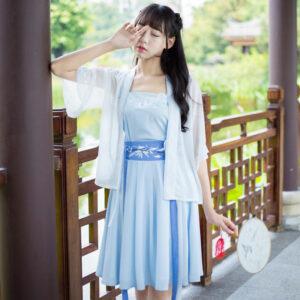 Modern Hanfu Clothing Blue Newhanfu
