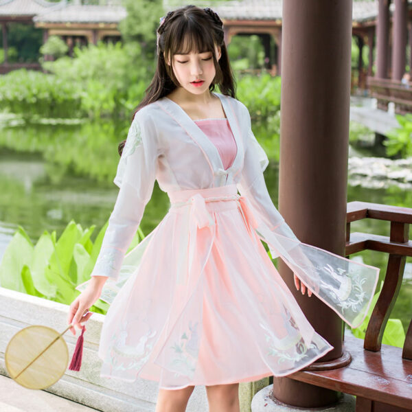 modern hanfu dress set newhanfu