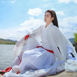male hanfu white clothing newhanfu