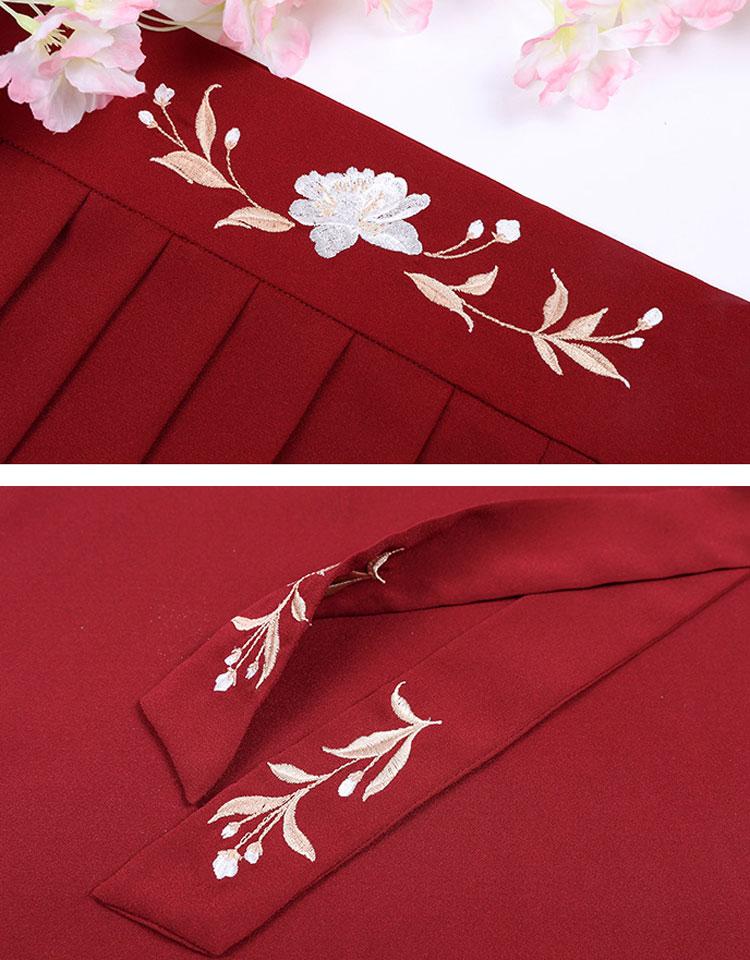 Shop Hanfu Red Rose Dress