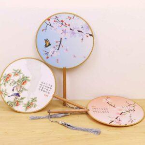 round silk fan newhanfu