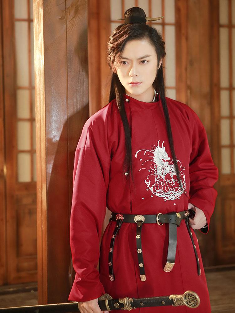 kylin kungfu robe hanfu male