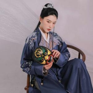 navy dragon kungfu hanfu