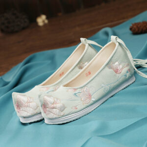 peach flower shoes hanfu