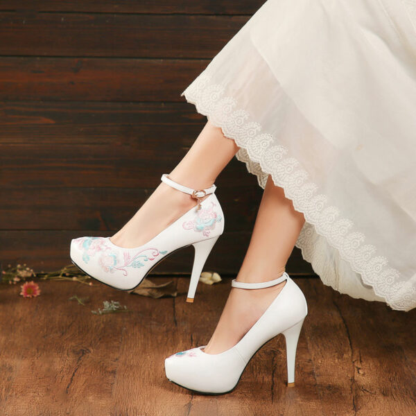 rose high heels hanfu shoes buy