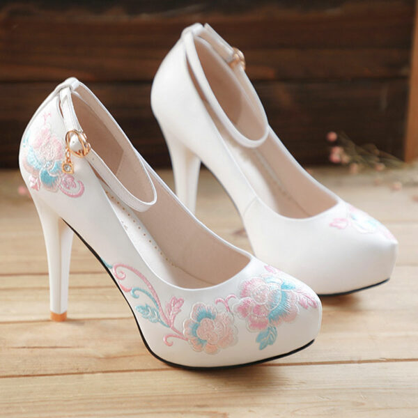 rose high heels hanfu shoes