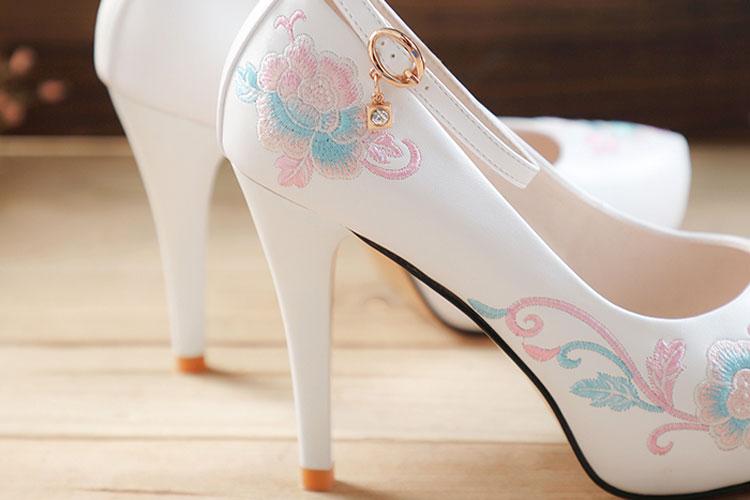 rose high heels hanfu shoes buy