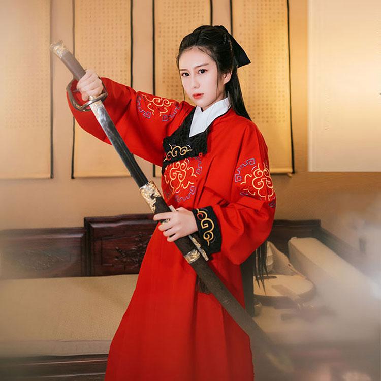royal red hanfu robe