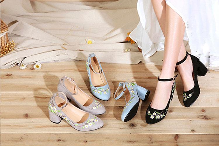 shop flower suede hanfu shoes