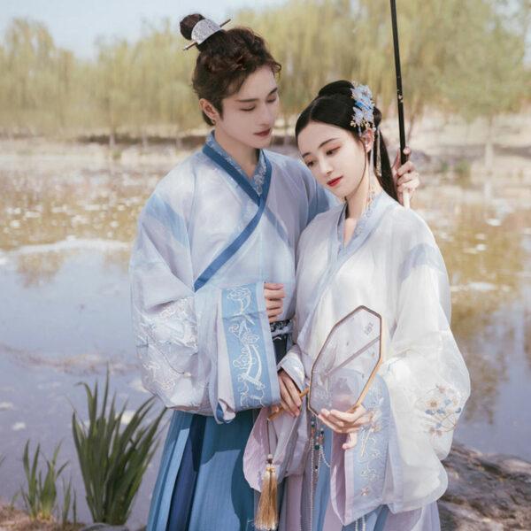 sweet young male hanfu