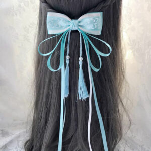 tassel bow hanfu hairband