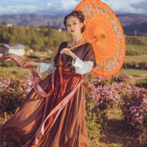 modern hanfu red-lotus