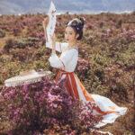 white lotus hanfu