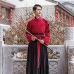 red color male hanfu