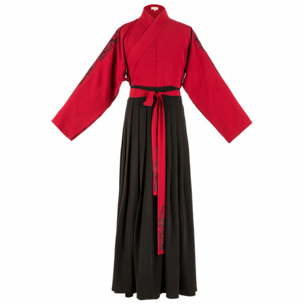 red color male hanfu