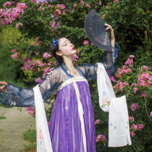 black fan hanfu accessory