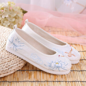 crane hanfu flats shoes