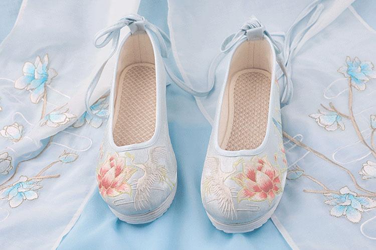 crane hanfu flats shoes