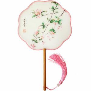 petal fan hanfu accessory