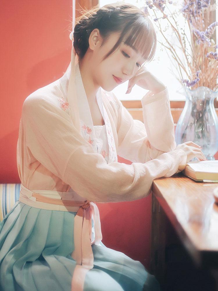 shop azalea flower hanfu