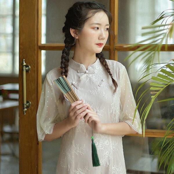 shop lilac qipao dress