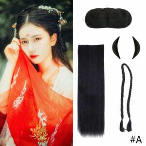 wig set hanfu hairstyle