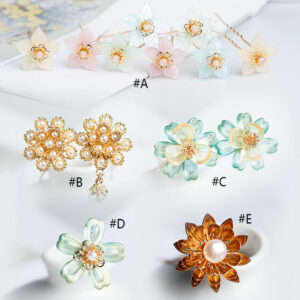 wild flowers hanfu jewelry