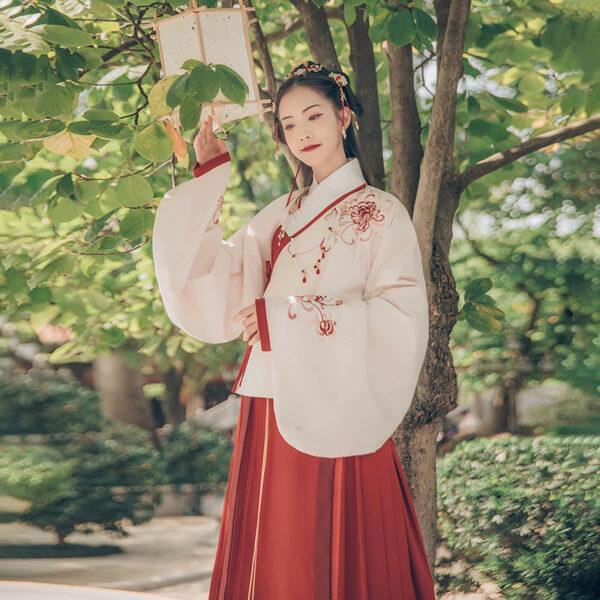 Hanfu Aoqun Red Hibiscus
