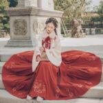 Hanfu-Aoqun-Red Hibiscus-04