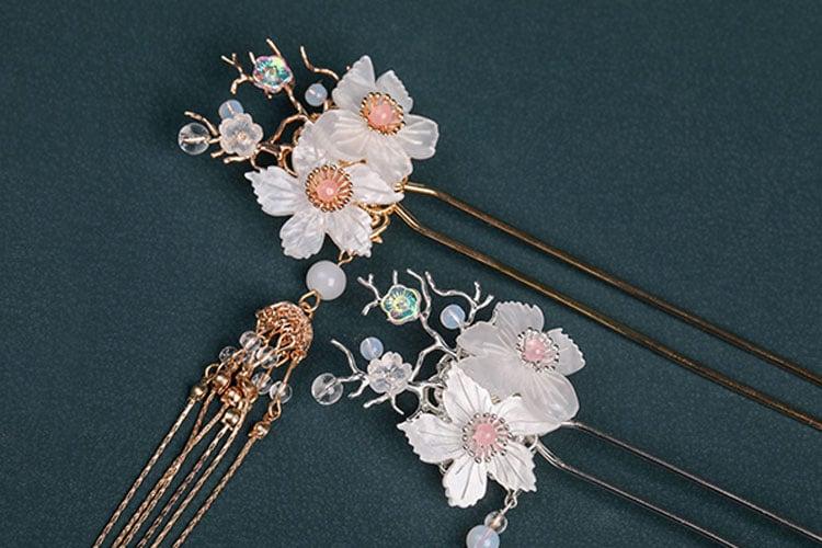 Twin Flower hanfu jewelry