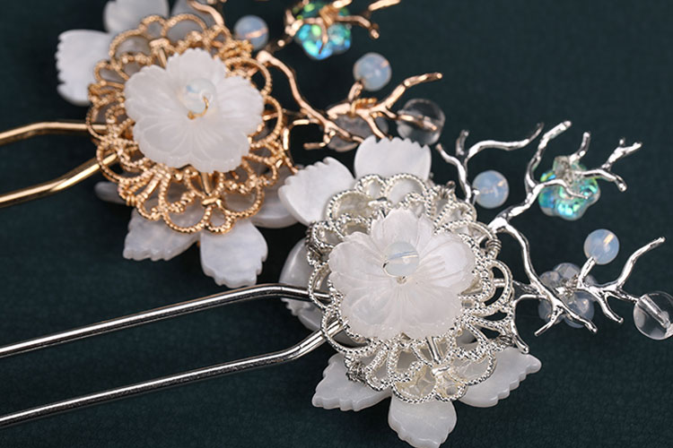 Twin Flower hanfu jewelry