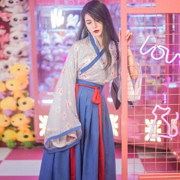 spring blue modern hanfu buy
