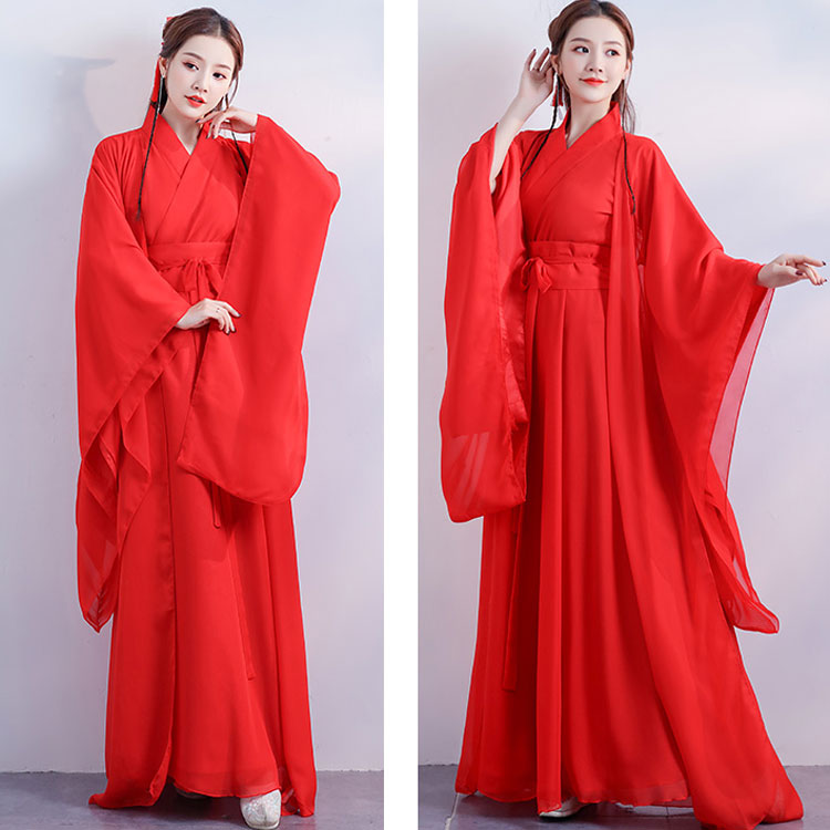 snow girl hanfu dress