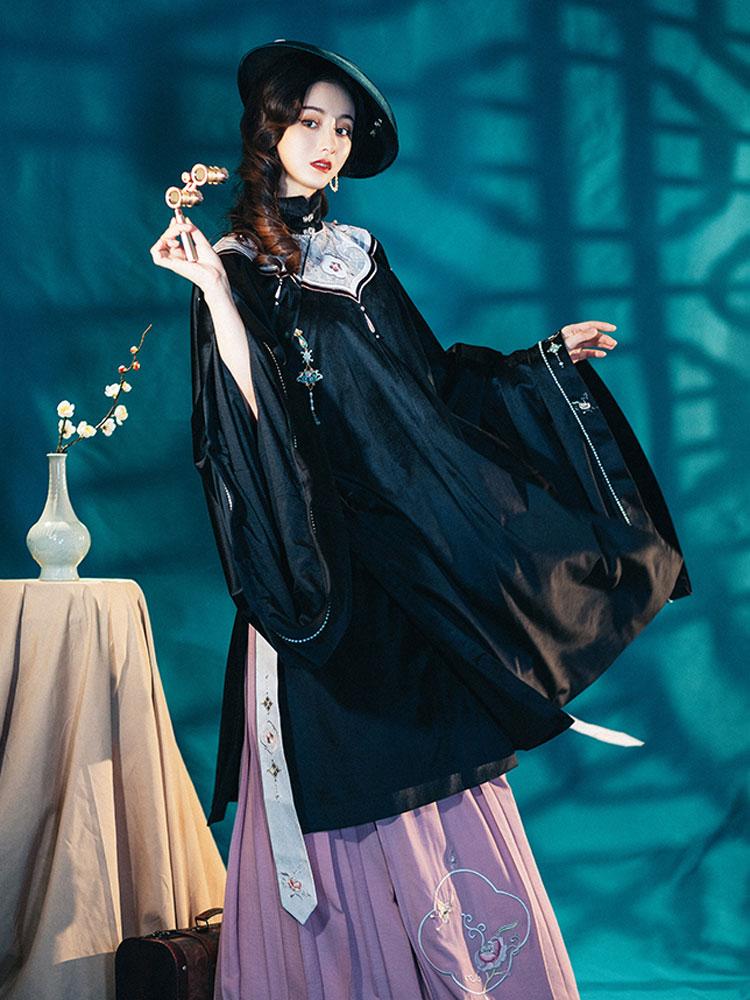 Ming Style Dark Orchid Aoqun Hanfu Buy