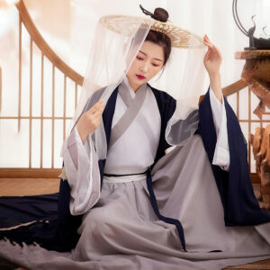 Navy Bauhinia Cheap Hanfu Shop