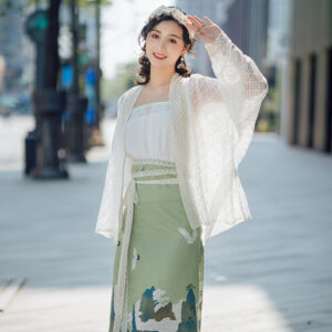 Fairy Mountain White Lace Hanfu