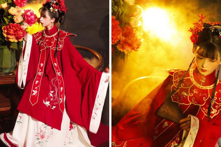 Peony Wedding Hanfu Dress