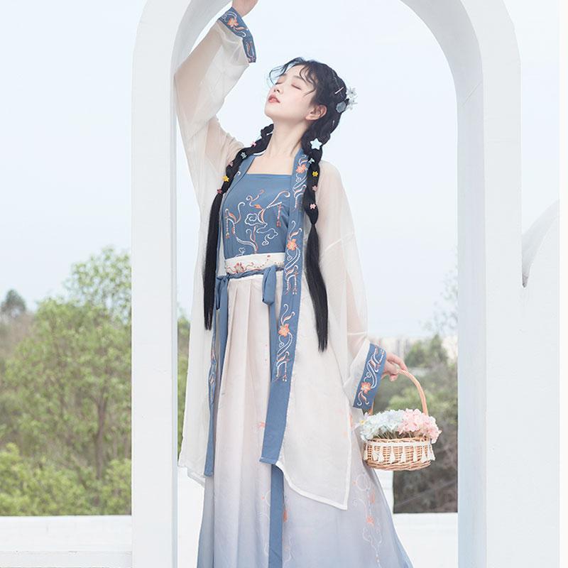 modern blue hanfu