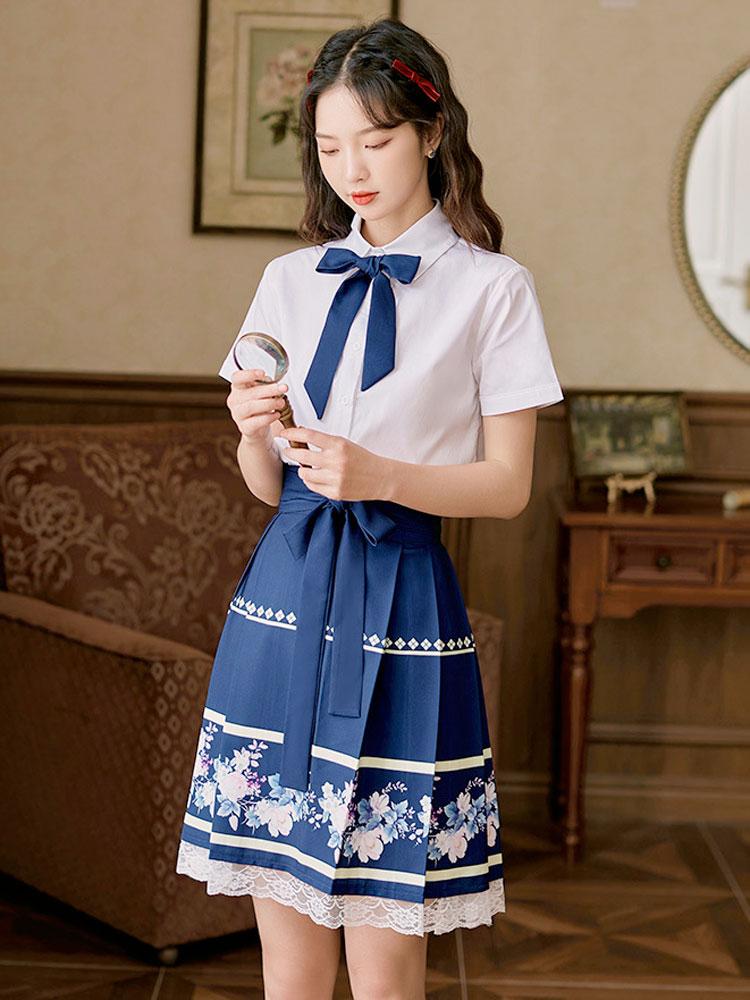Preppy Blue fashion hanfu