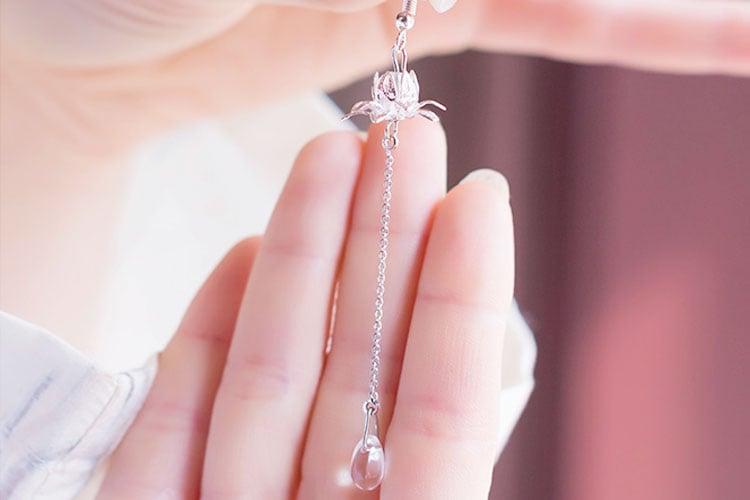 Water Lotus hanfu earrings
